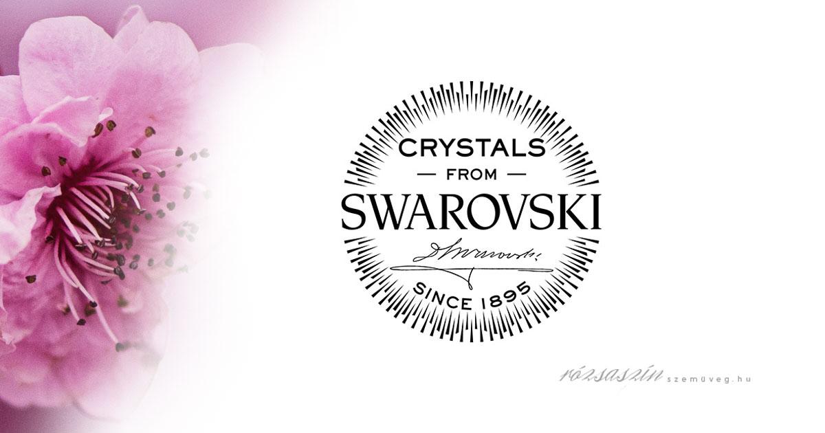 swarovski kristály logó ásvány karkötő